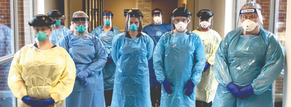 OHMCH team with PPE